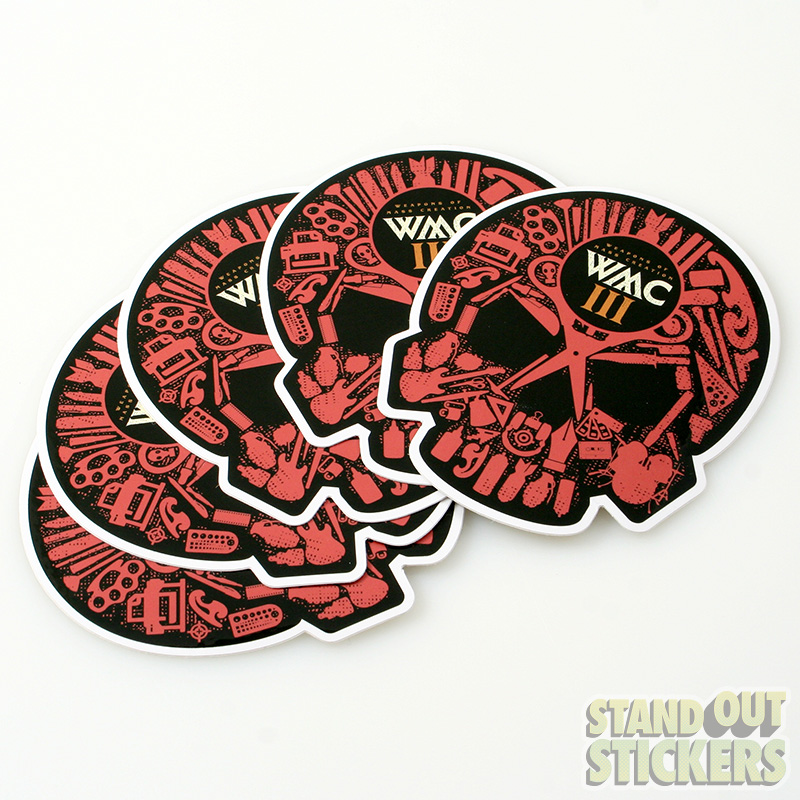 Below examples of diecut stickers