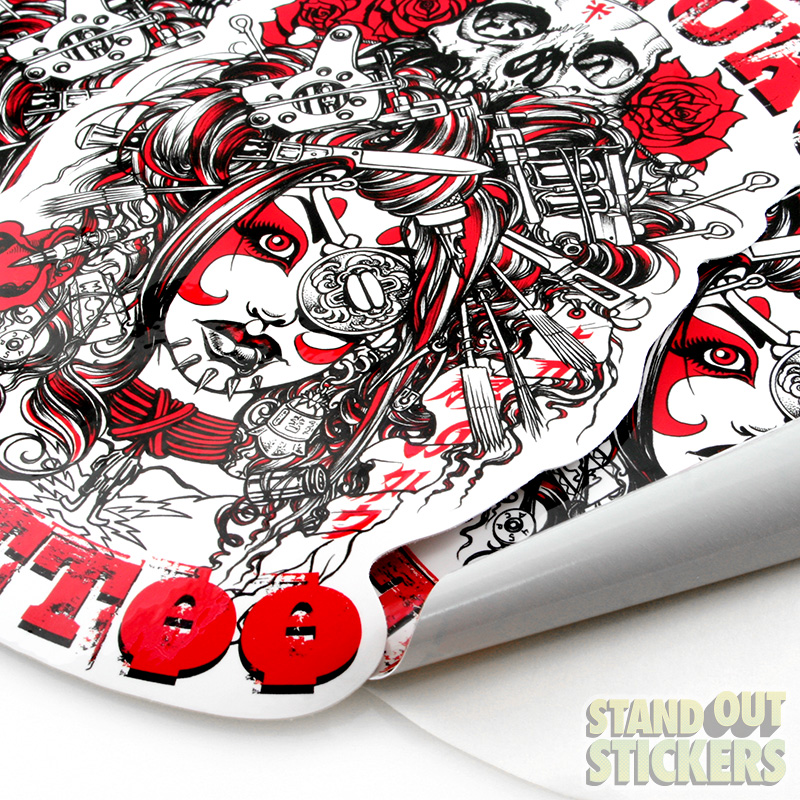 Custom Stickers For Tattoo Parlor Seppuku Tattoo StandOut - Custom vinyl decals die cutcustom vinyl decals standout stickers