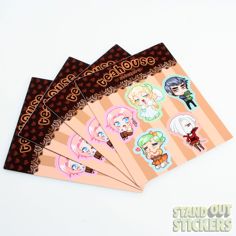 Teahouse Custom Kiss Cut Sticker Sheets