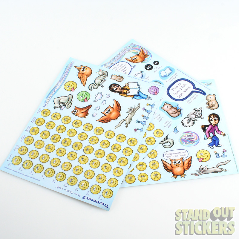 Custom Kiss Cut Sticker Sheets