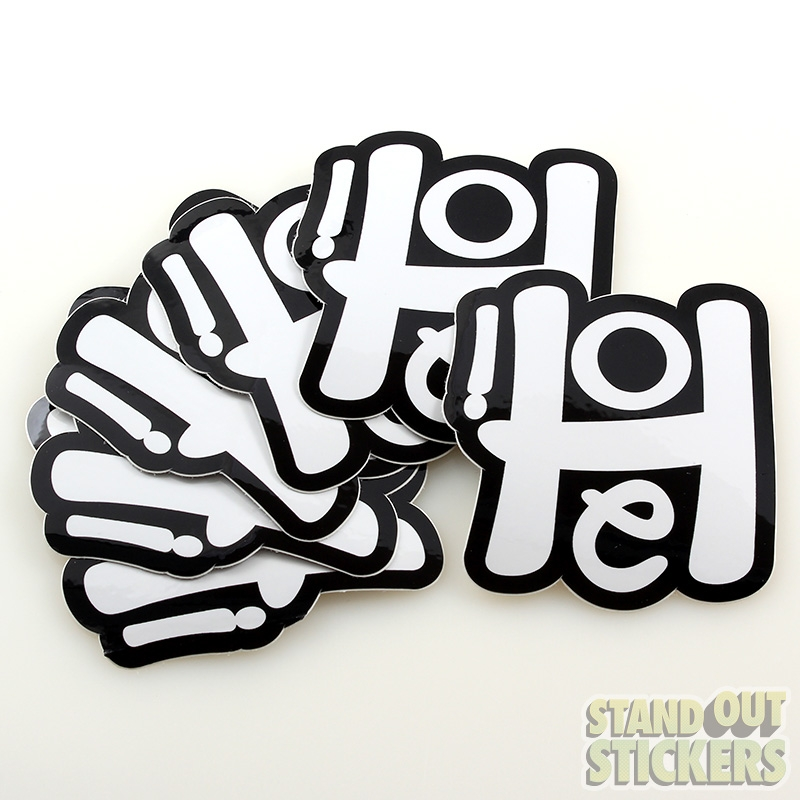 Black And White Custom Stickers StandOut Stickers Blog - Custom vinyl stickers logo
