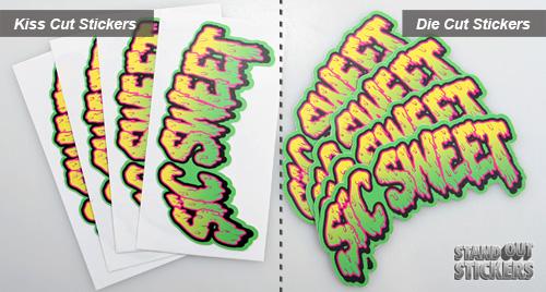 Custom Stickers Die Cut Stickers Custom Sticker Printer The - Custom die cut stickers vs regular stickers