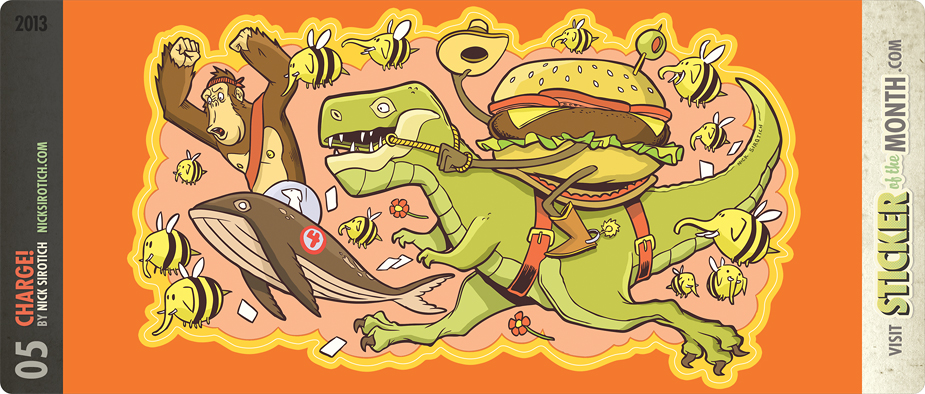 CHARGE! by Nick Sirotch - Sticker of the Month Club