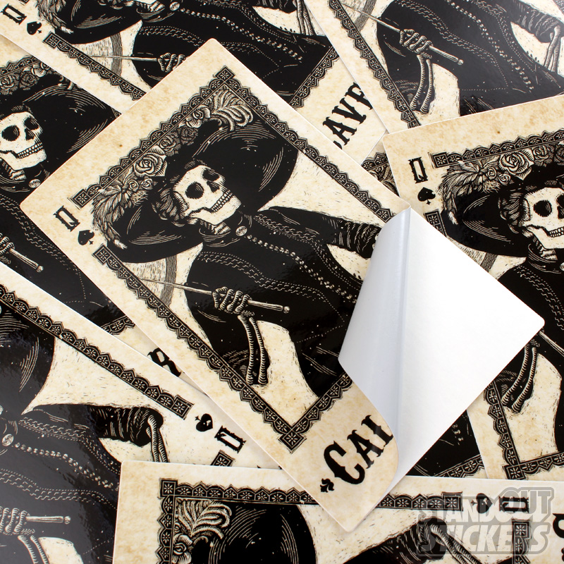 Dead On Paper Loves Their Calaveras Stickers StandOut Stickers Blog - Graphic design custom vinyl stickers
