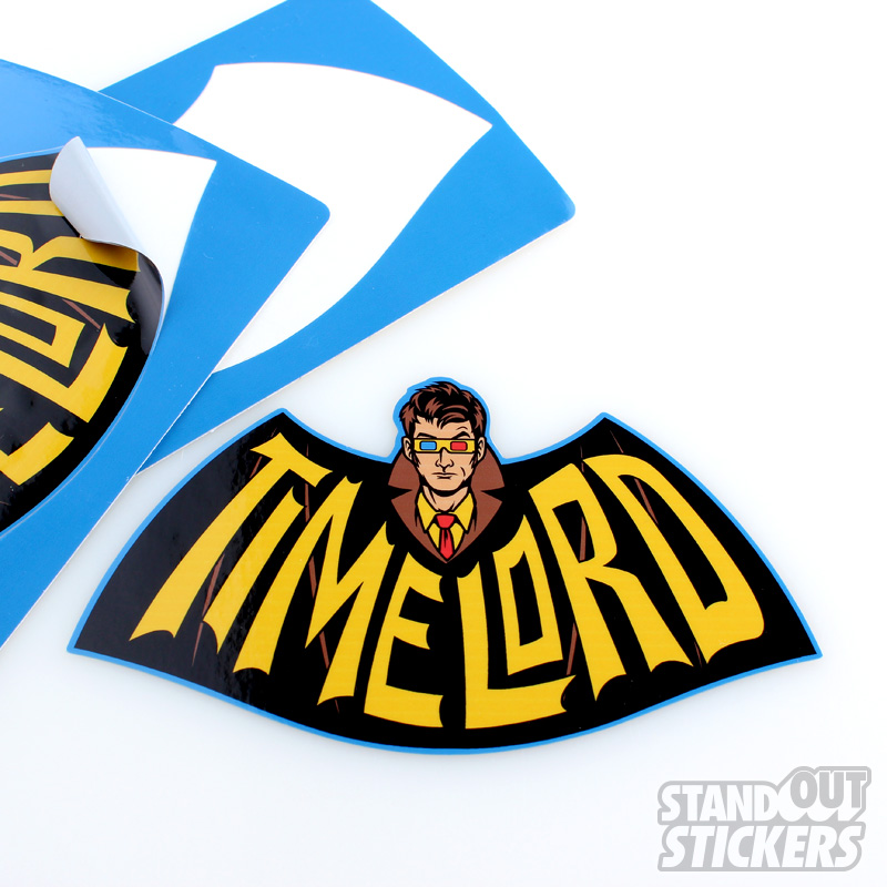 Teefury Harebrained Design Standout Stickers Dr Who Timelord