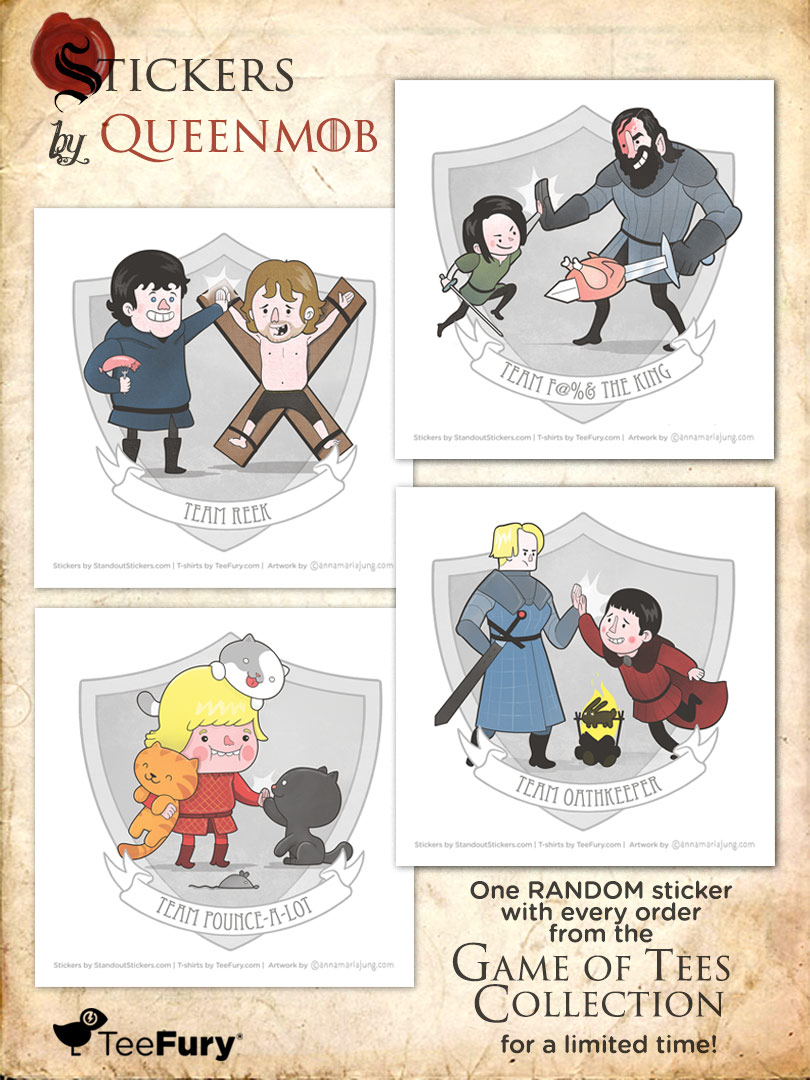 Teefury Game of Thrones Stickers