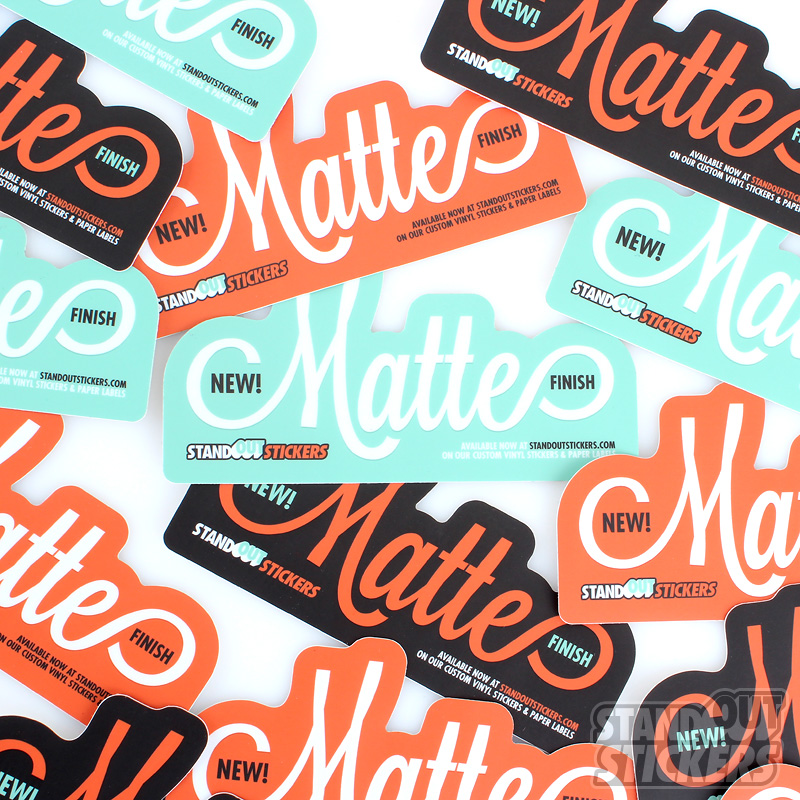 Youll Love Our New Matte Finish StandOut Stickers Blog - What are custom die cut stickers