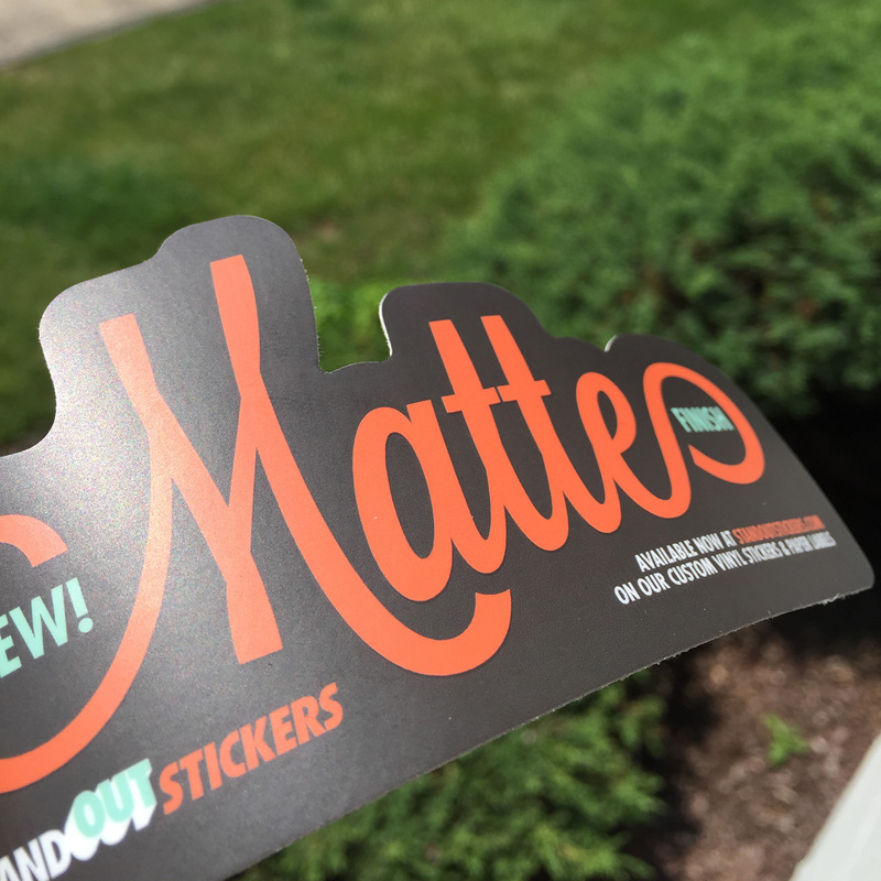 Matte finish stickers