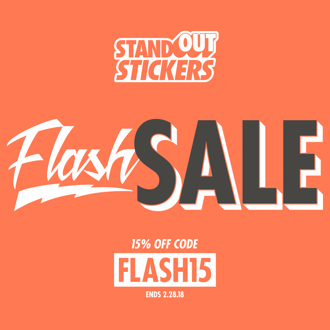15% Off Custom Stickers