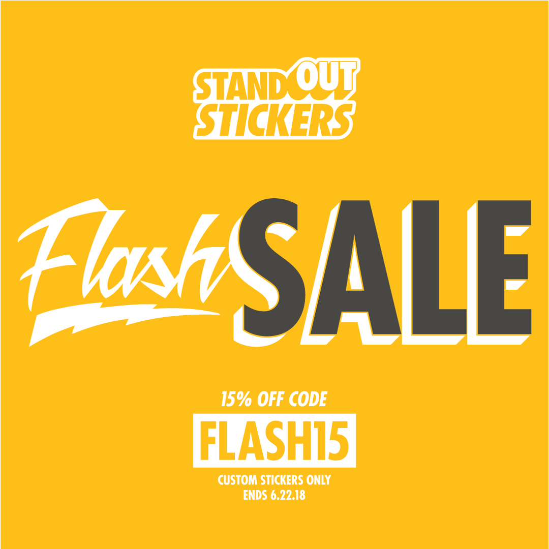 Flash sale 15 off custom stickers