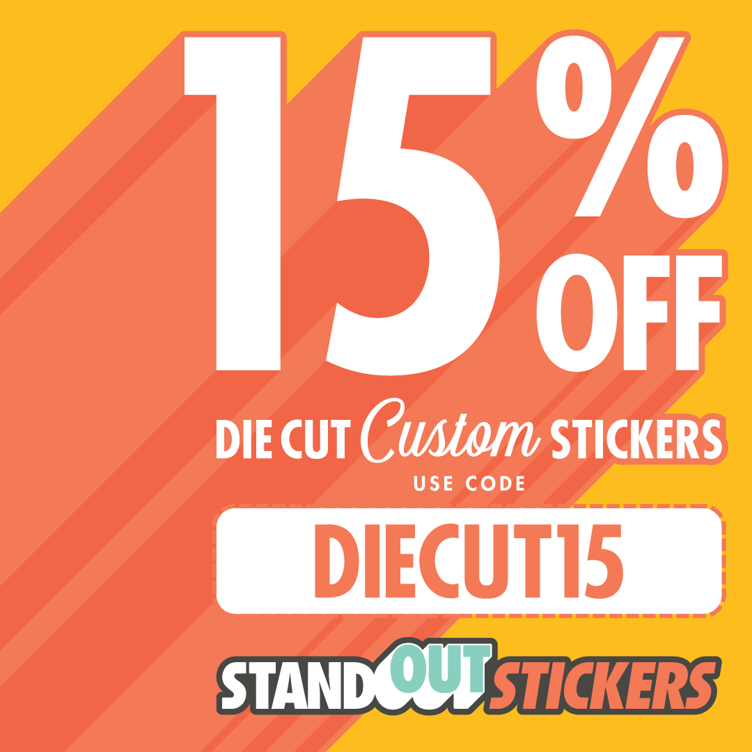 Die Cut Stickers 15% OFF
