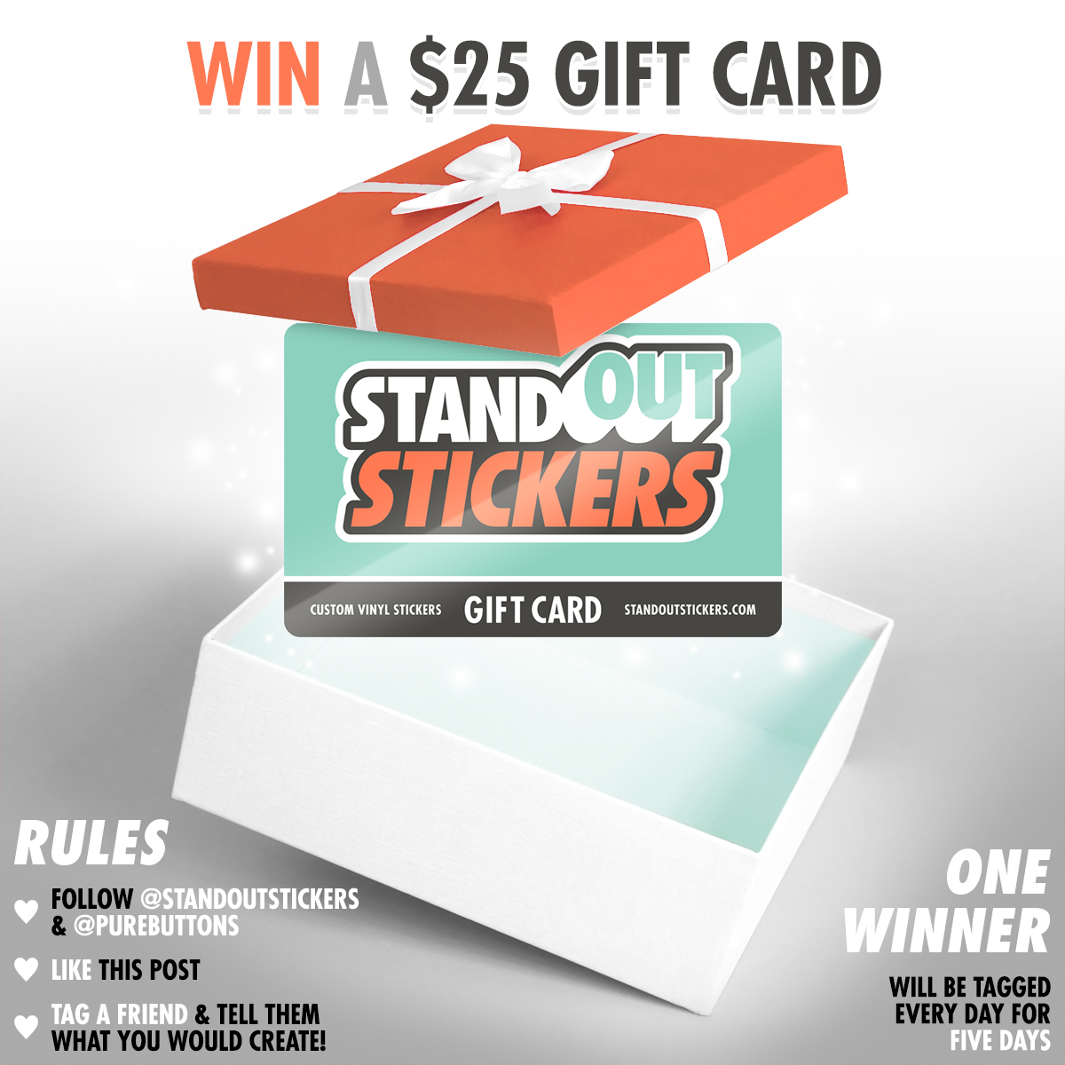 Win a $25 StandOut Stickers Gift Card
