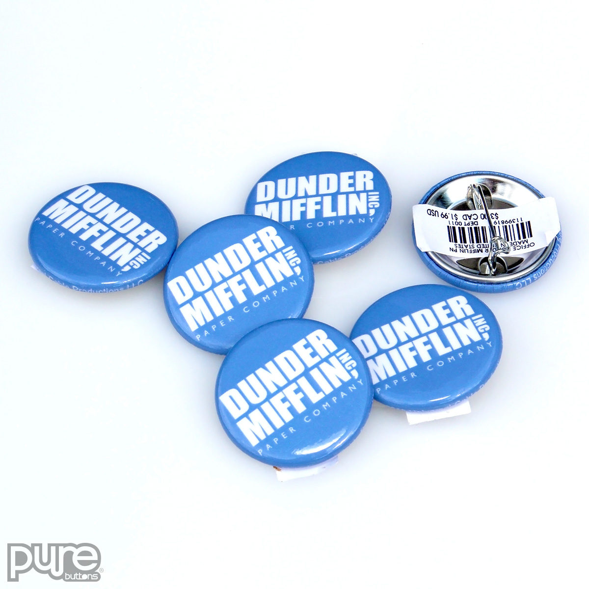 The Office NBC Official Merchandise Dunder Mifflin Custom Buttons
