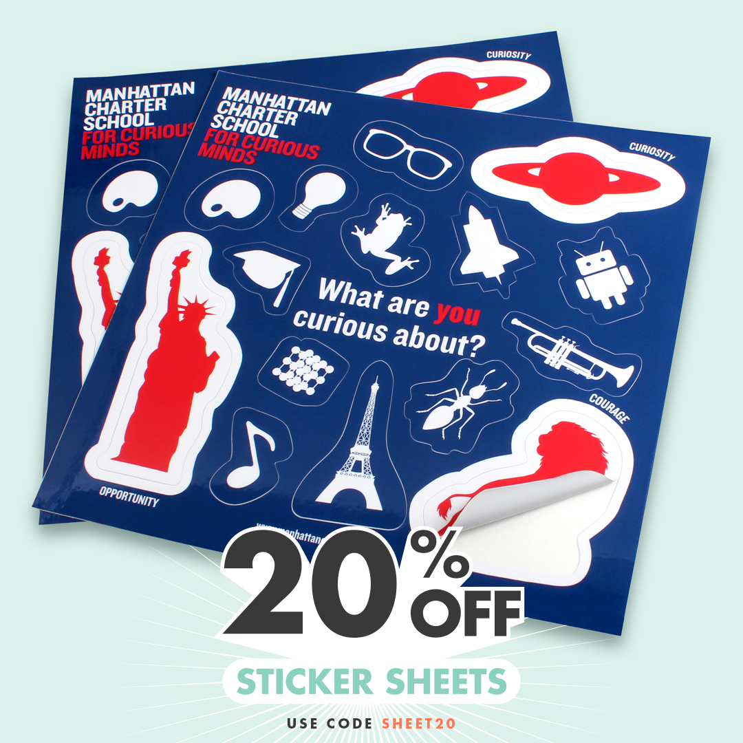 20% OFF Sticker Sheets at StandOut Stickers with code SHEET20