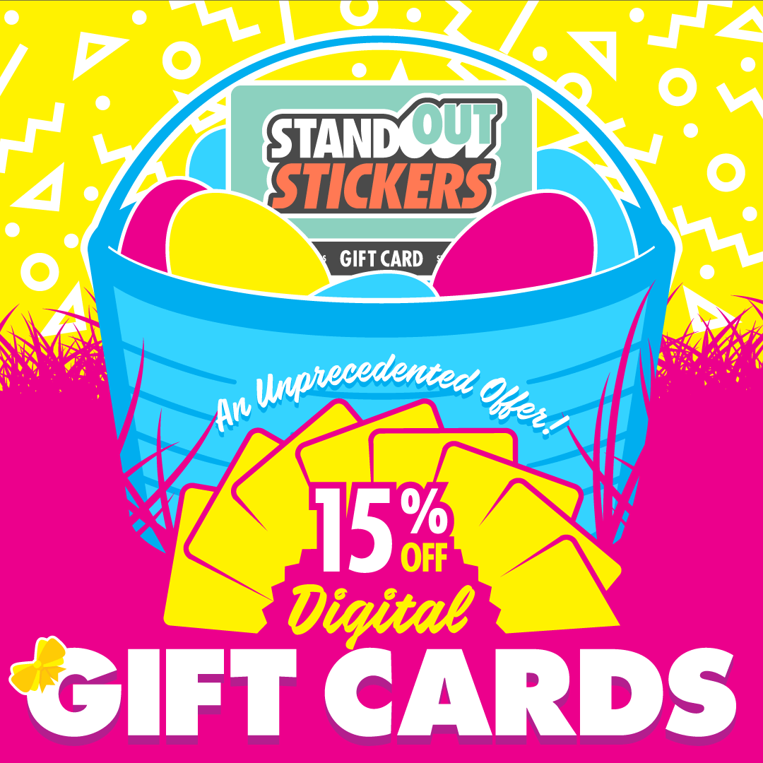 15% OFF StandOut Stickers Gift Cards