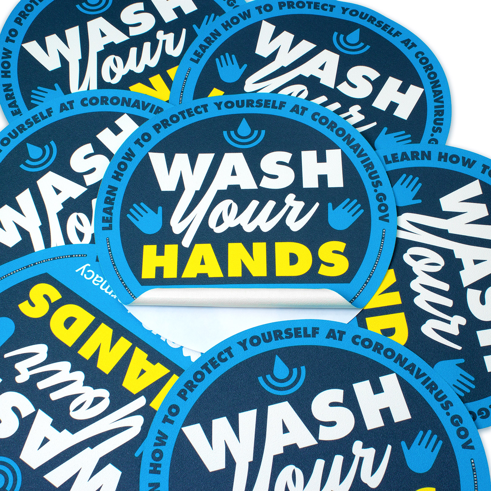 Wash Your Hands Floor Decals